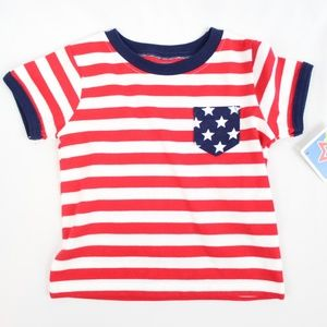 Other - Baby Red White Blue Striped Gender Neutral T Shirt